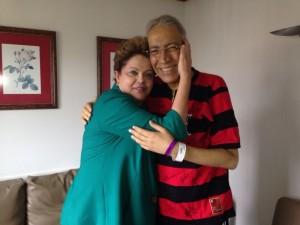 Déda e Dilma: carinho