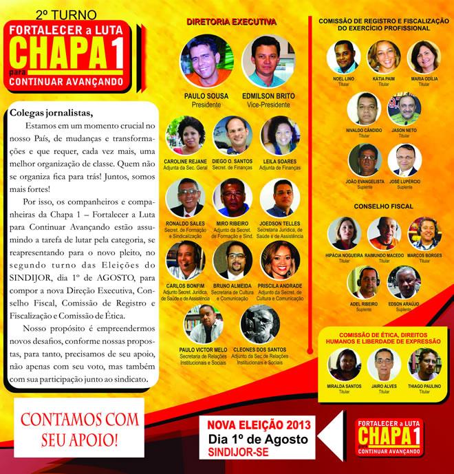Jornalista, quinta-feira,  1º de agosto, tem nova  eleição do Sindijor.